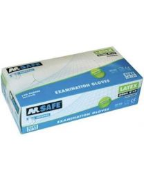 M Safe 4160 disposable latex handschoen