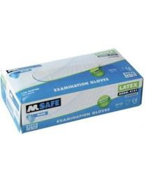 M Safe 4161 disposable latex handschoen