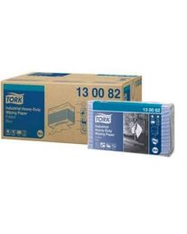Tork Industrial Heavy Duty Paper Folded Blue poetsdoek